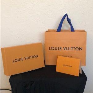 Louis Vuitton Shopping Bag, receipt holder & Box